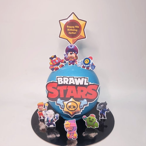 BRAWL STARS GAME Knock Knock Pinata Cake