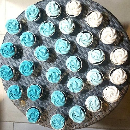 Blue Ombre Cupcakes (12pcs)