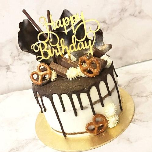 Chocolate Drip Money Pulling Cake 3