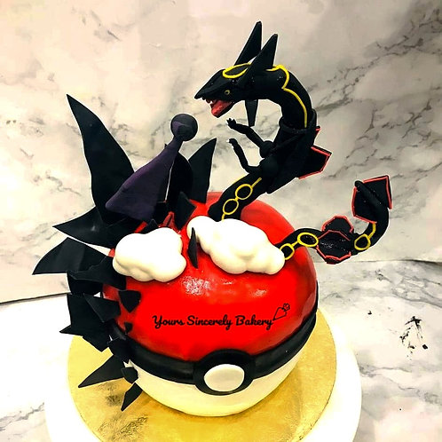 Black Rayquaza Pokemon Ball Knock Knock Pinata Surprise Cake
