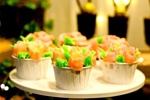 Tulip Flower Cupcakes (12pcs)