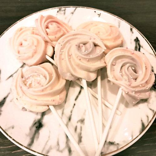 Meringue Lollipops