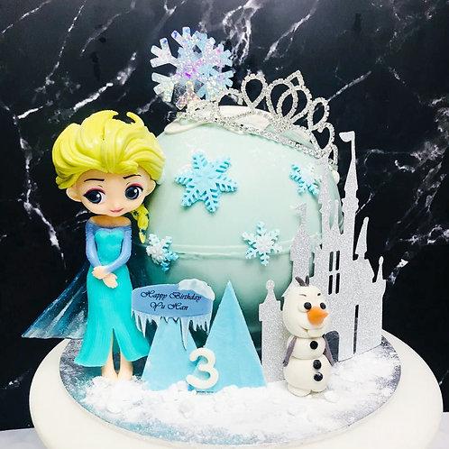 Elsa Princess And Olaf Frozen Pinata Knock Knock Cake