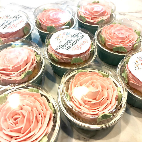 Floral Cupcakes for Teacher's Day