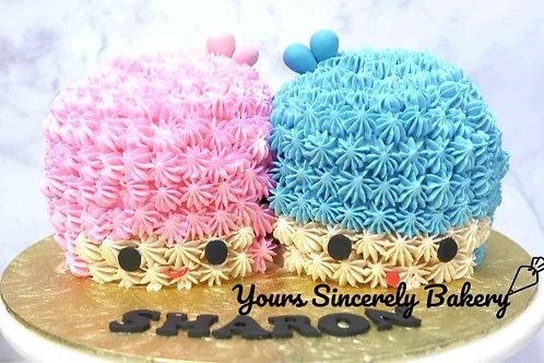 Little Twin Stars Cream Cake