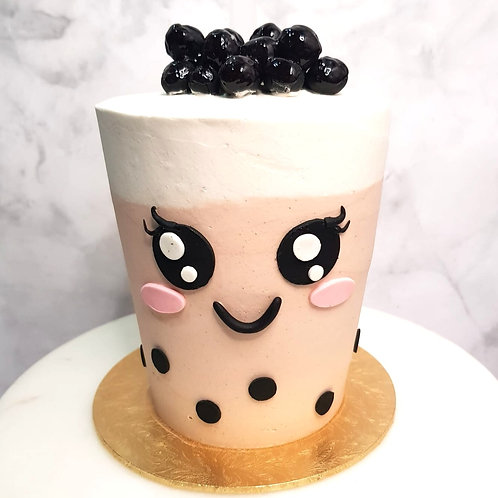 Real Bubble Tea Drink in a Cake 10