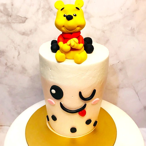Winnie The Pooh Drinkable Bubble Tea Cake