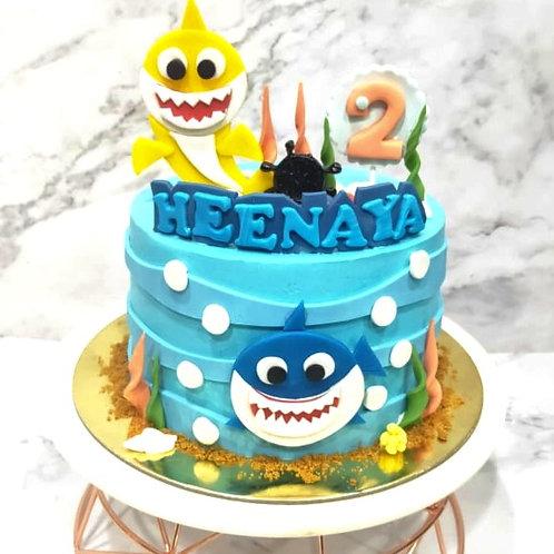 2D Baby Shark Cake