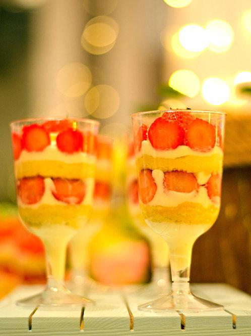 Strawberry Shortcake Champagne Glass