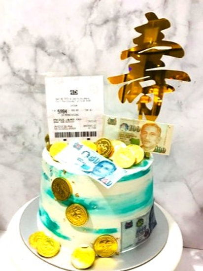 4D Toto Money Pulling Cake