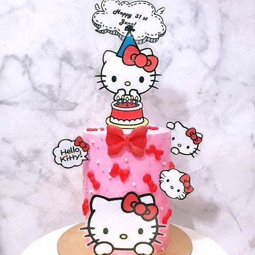 Hello Kitty Drinkable Bubble Tea Cake
