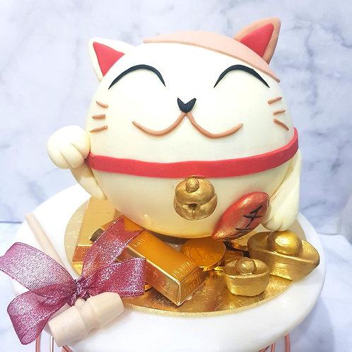 Fortune  Cat Knock Knock Pinata Surprise Cake