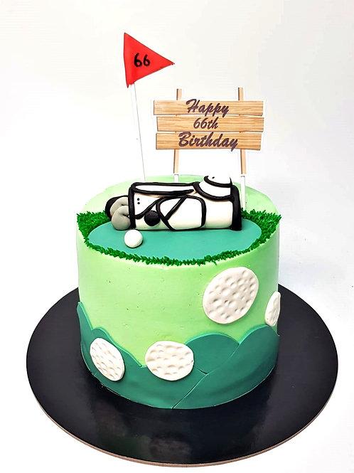 Golf Money Pulling Cake 1