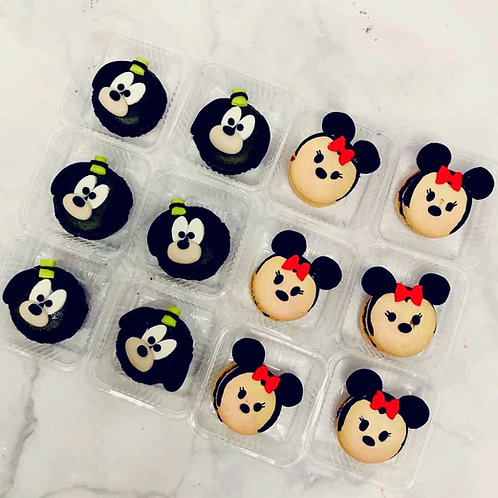 Goofy And Minnie Mouse Macarons