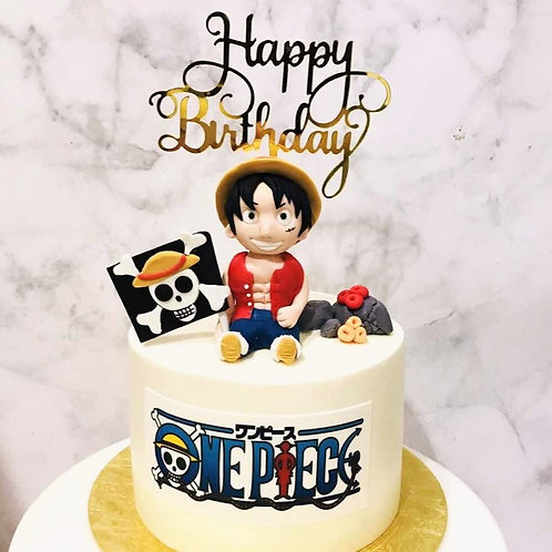 One Piece Luffy Themed Cake