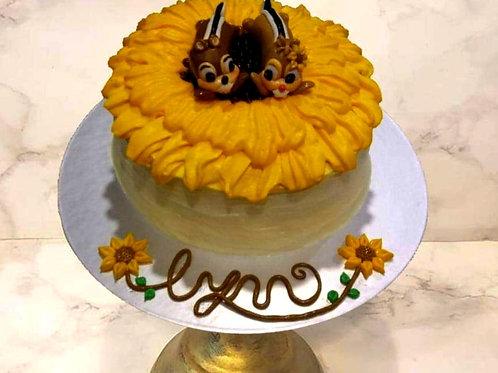 Chip & Dale Sunflower Cake