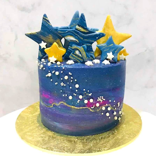 Galaxy Stars Themed Cake