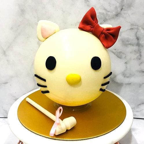Hello  Kitty Knock Knock Pinata Surprise Cake