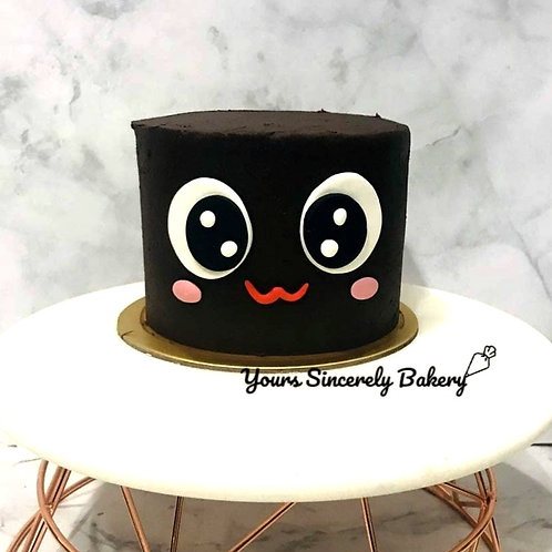 Chocolate Fudge Cute Face Cake