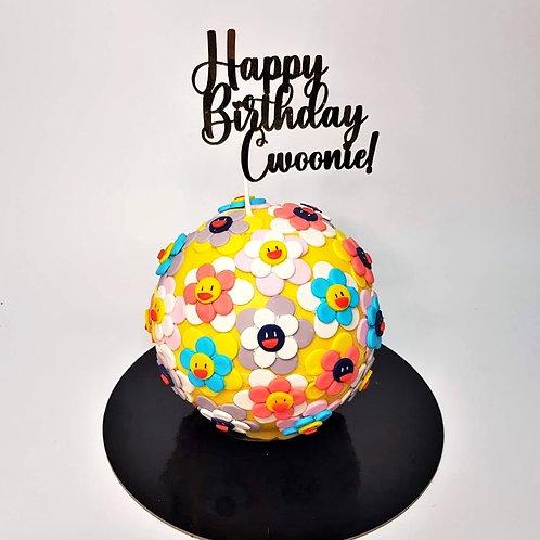 Murakami Motif Knock Knock Pinata Surprise Cake 2