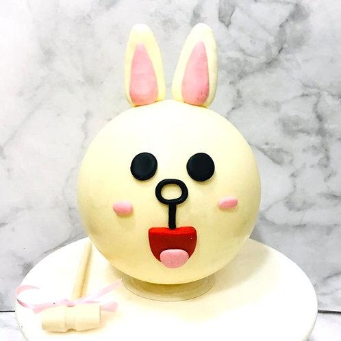 Corny  Line Bear Knock Knock Pinata Surprise Cake
