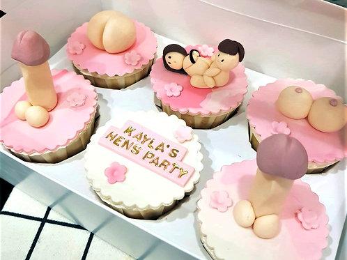 Hens Night Sweet Pink Themed Cupcakes (6pcs)