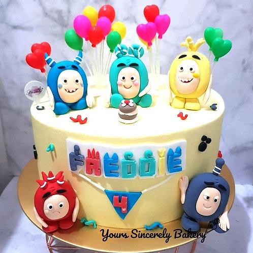 Oddbods Themed Cake