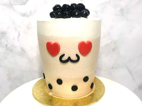 Real Bubble Tea Drink in a Cake 11