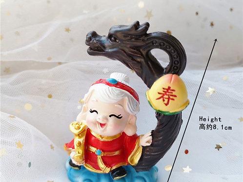 Longevity Figurine Shou Xing Po 寿星婆