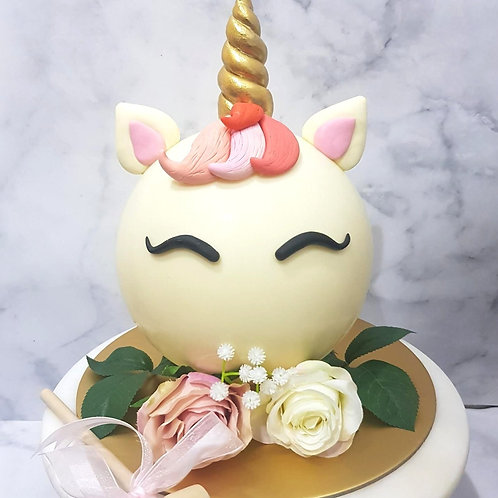 Floral Unicorn Knock Knock Pinata Surprise Cake