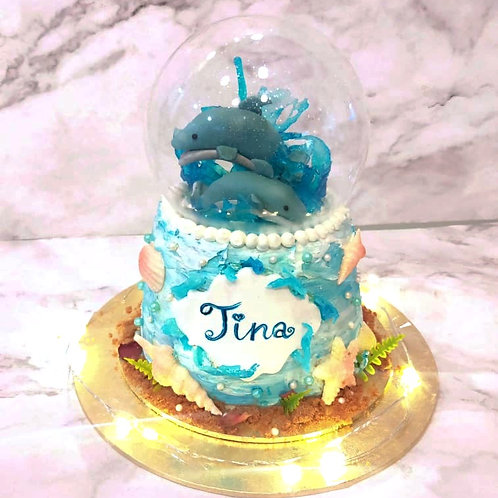 Dolphin Ocean Globe Cake