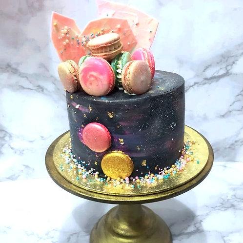 Colorful Galaxy Cake