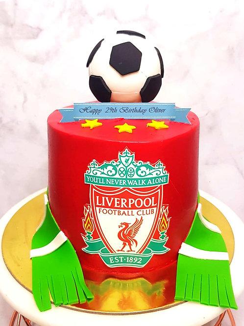 Liverpool Soccer Themed Cake
