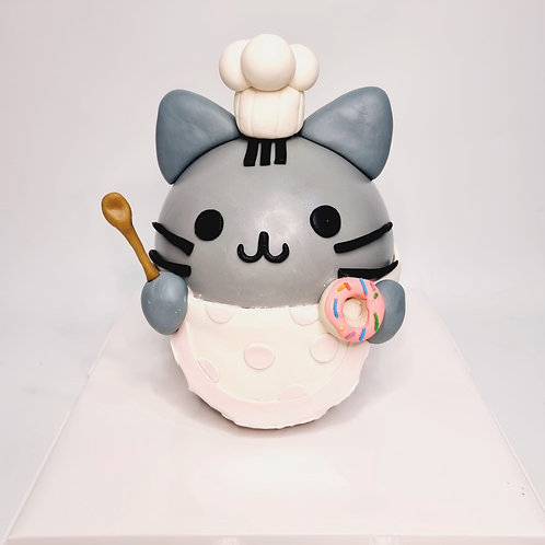 Pusheen Chef Cat Pinata Knock Knock Cake