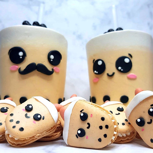 Drinkable Family Bubble Tea Cakes And Macarons