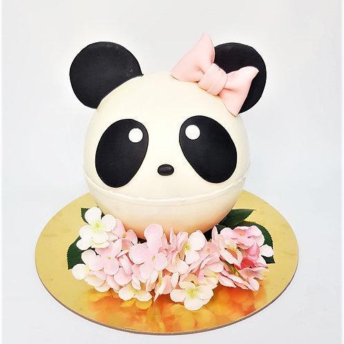 Panda Girl Knock Knock Pinata Surprise Cake