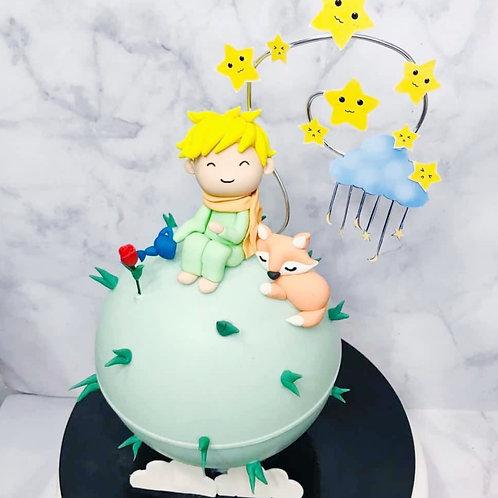 Little Prince Themed Knock Knock Pinata Cake