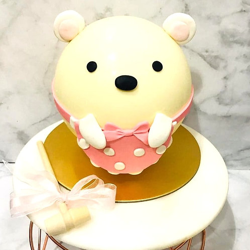Cute Bear Knock Knock Pinata Surprise Cake