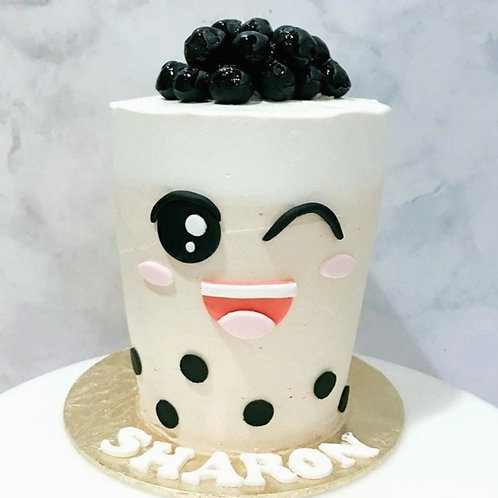 Real Bubble Tea Drink in a Cake 6