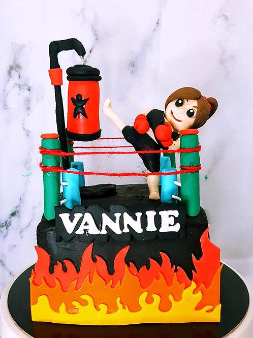 Muay Thai Boxing Cake