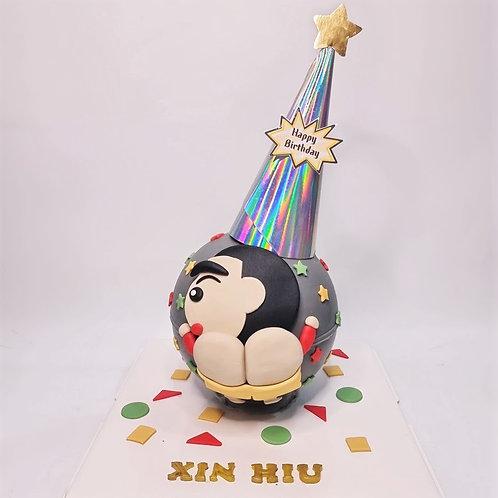 Crayon Shin Chan La Bi Xiao Xin Butt  Knock Knock Pinata Surprise Cake