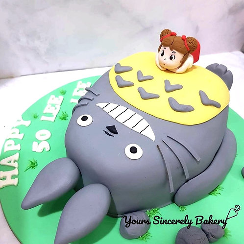 My Neighbor Totoro Themed Cake