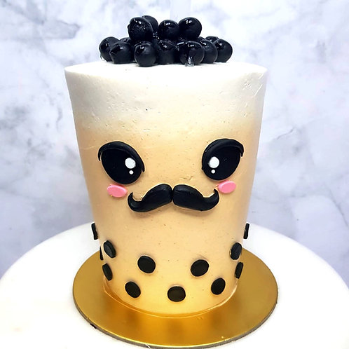 Real Bubble Tea Drink in a Cake 14