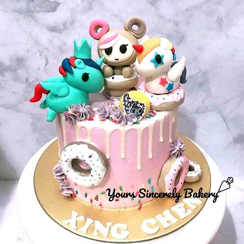 Tokidoki Donutella Pastel Pink Drip Cake