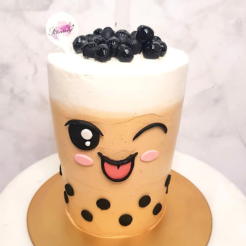 Real Bubble Tea Drink in a Cake 8
