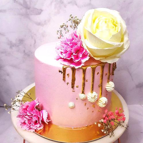 Sweet Pink Floral Cake