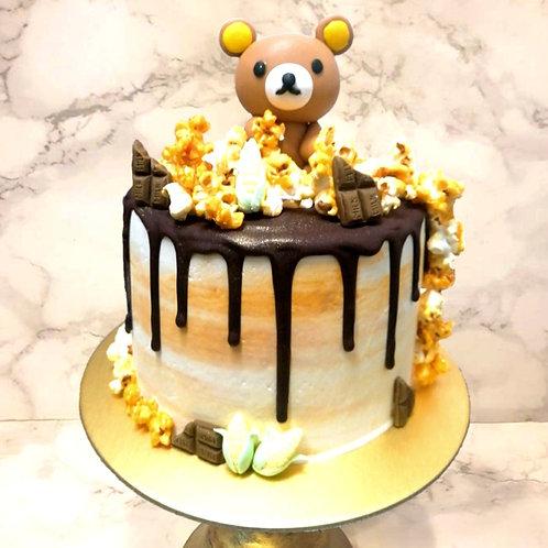 Rilakuma Popcorn Drip Cake