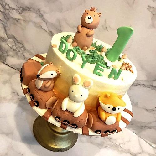 Animal Woodland Themed Cake