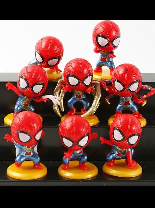 Superheroes Spiderman figurines (8pcs)