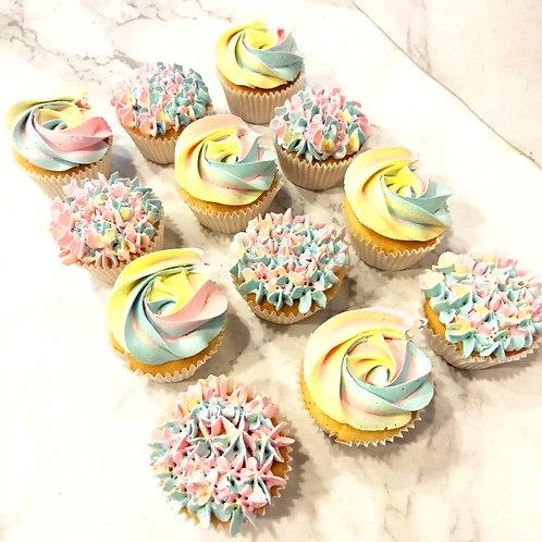 Rainbow Cupcakes (12pcs)